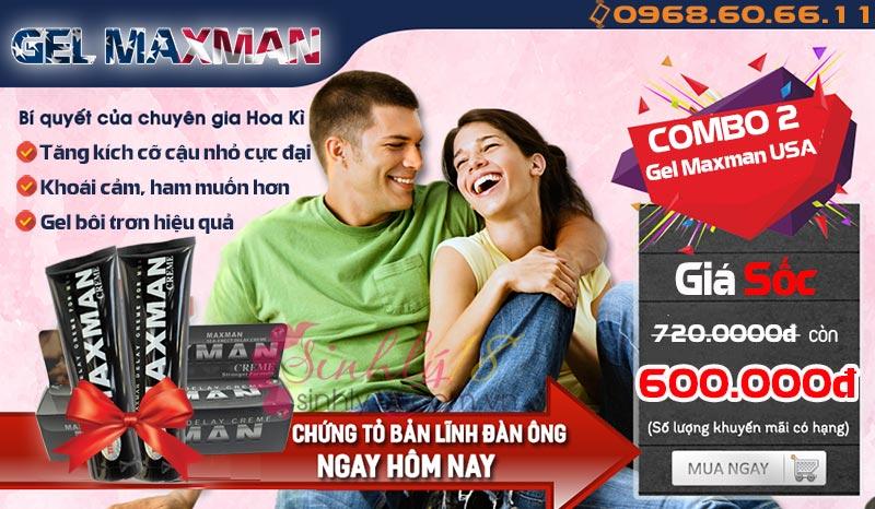 Combo 2 Gel Maxman USA