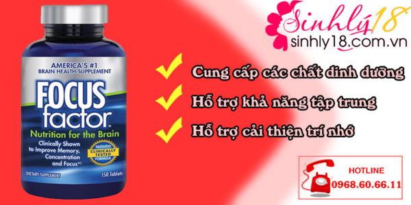 coong dungj Viên Uống Focus Factor Nutrition For The Brain Của Mỹ