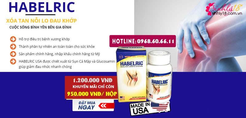 habelric so với tác dụng của hondrocream
