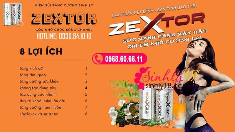 công dụng zextor