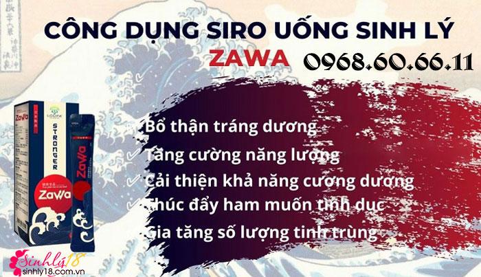 Công dụng Nước uống Zawa