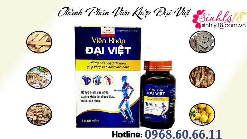 Thành phầnviên khớp Đại Việt