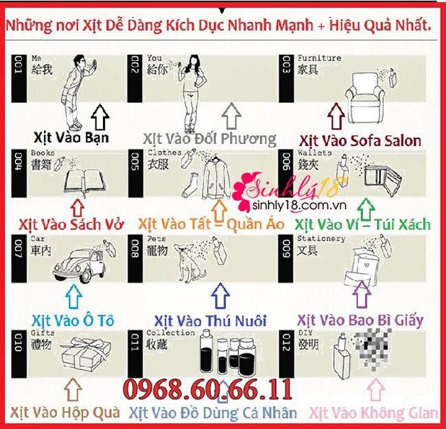 Cách sử dụng của nước hoa tình yêu Heermeng Duai
