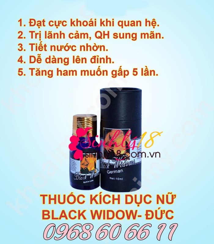 Công dụng của nước uống kích thích Black Widow