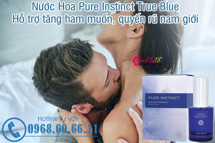 Nước Hoa Pure Instinct True Blue Hỗ Trợ Tăng Ham Muốn Quyến Rũ Nam Giới