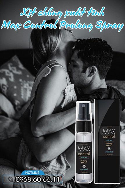 Xịt chống xuất tinh Max Control Prolong Spray Hỗ Trợ Kéo Dài Thời Gian
