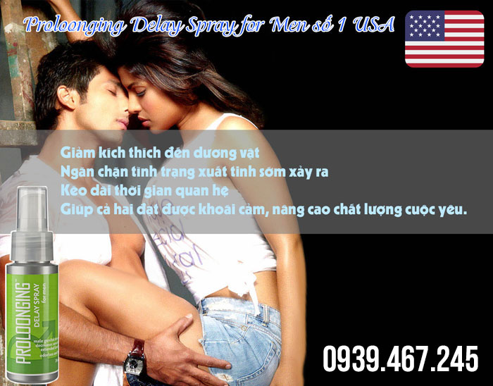 Proloonging Delay Spray for Men - Xịt Chống Xuất Tinh Sớm số 1 USA